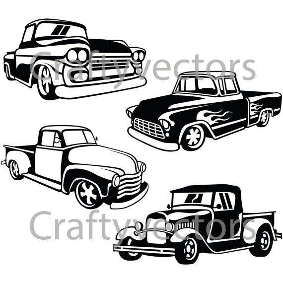 Rod clipart svg. Hot trucks vector files