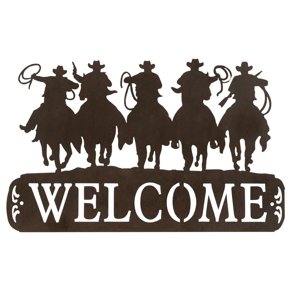 Tin cowboy sign i. Rodeo clipart western welcome vector free stock
