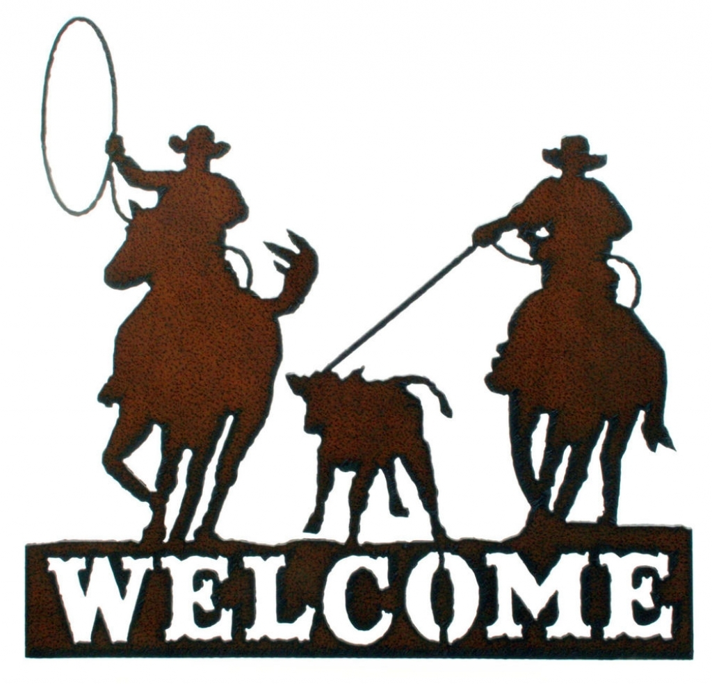 Wall decor rustic metal. Rodeo clipart western welcome vector freeuse