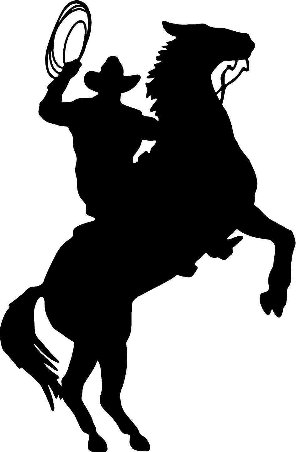 Cowboy silhouette clip art. Rodeo clipart western welcome jpg black and white library