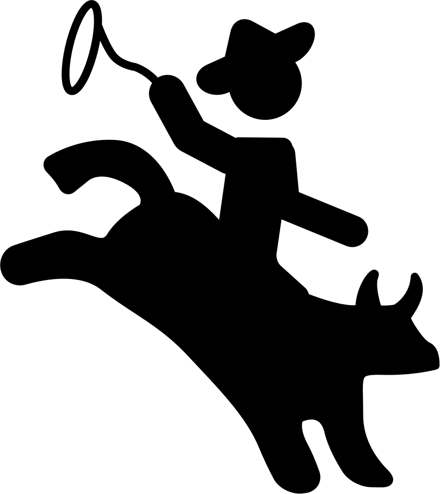Cowboy svg silhouette. Rodeo of a mammal