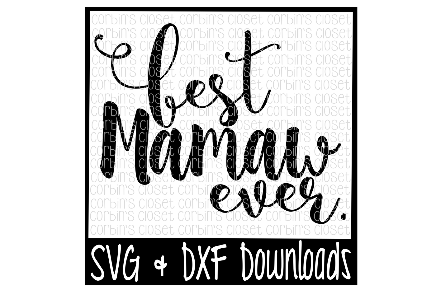 Rodeo svg dxf. Best mamaw ever cutting