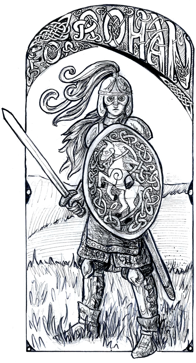 Inktober eowyn by lariethene. Rohan drawing picture royalty free stock