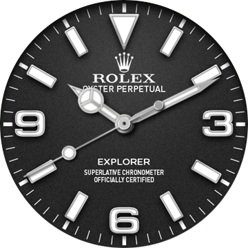 Watch face png. Rolex explorer black watchfaces
