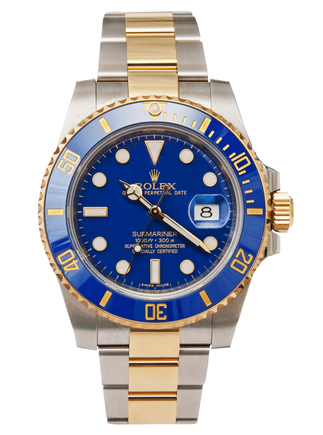 Rolex submariner png. Stainless steel yellow gold
