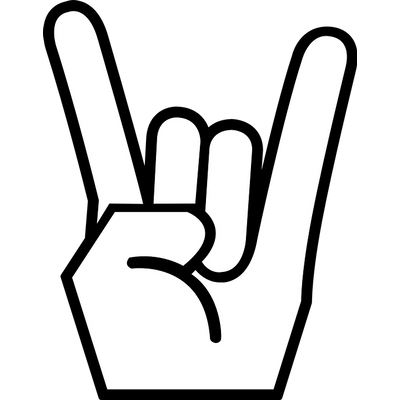 Roll clipart transparent background. Rock n hand sign