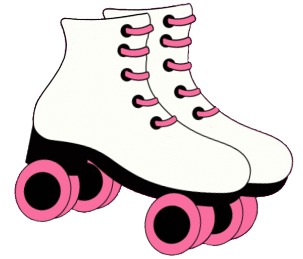 Skating clipart roller. Pin printable skate stencil