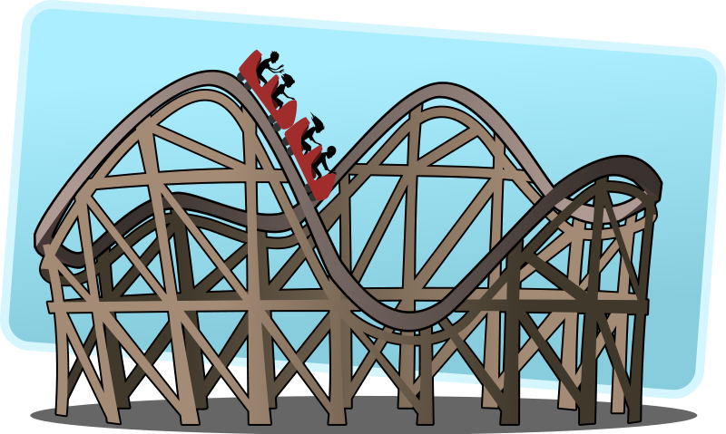 Animated roller coaster . Rollercoaster clipart image library download