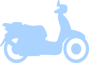 Scooter clipart silhouette. Blue clip art at