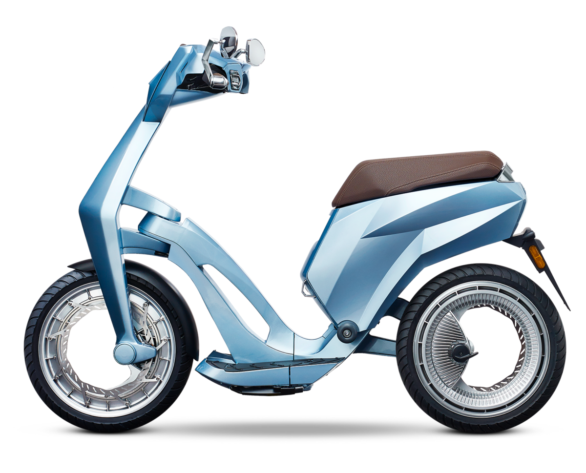 Scooter vector mio. High tech connected electric