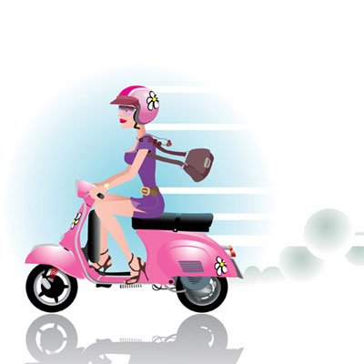 scooter clipart pink scooter