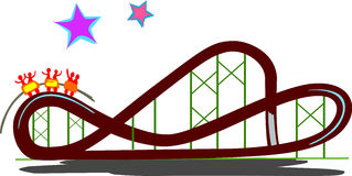 Roller coaster clipart. Rollercoaster stock illustrations representation banner black and white library
