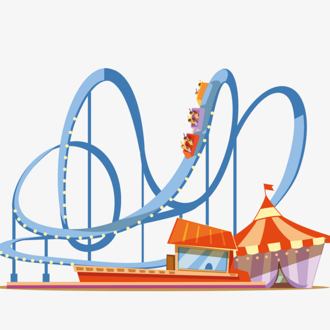 Roller coaster clipart. Png vectors psd and