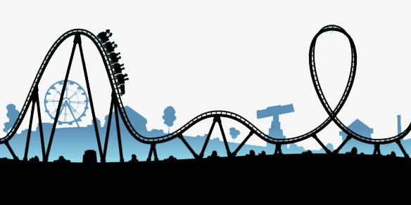 Roller coaster clipart. Sky cartoon playground png