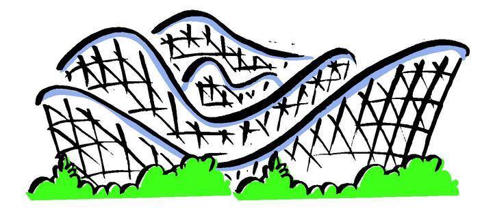 . Roller coaster clipart free