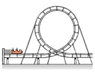 Roller coaster clipart black and white. Rollercoaster transparent png stickpng