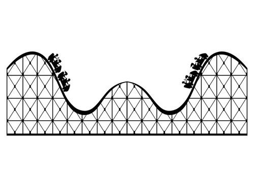 Large wall decal pinterest. Roller coaster clipart black and white graphic royalty free download