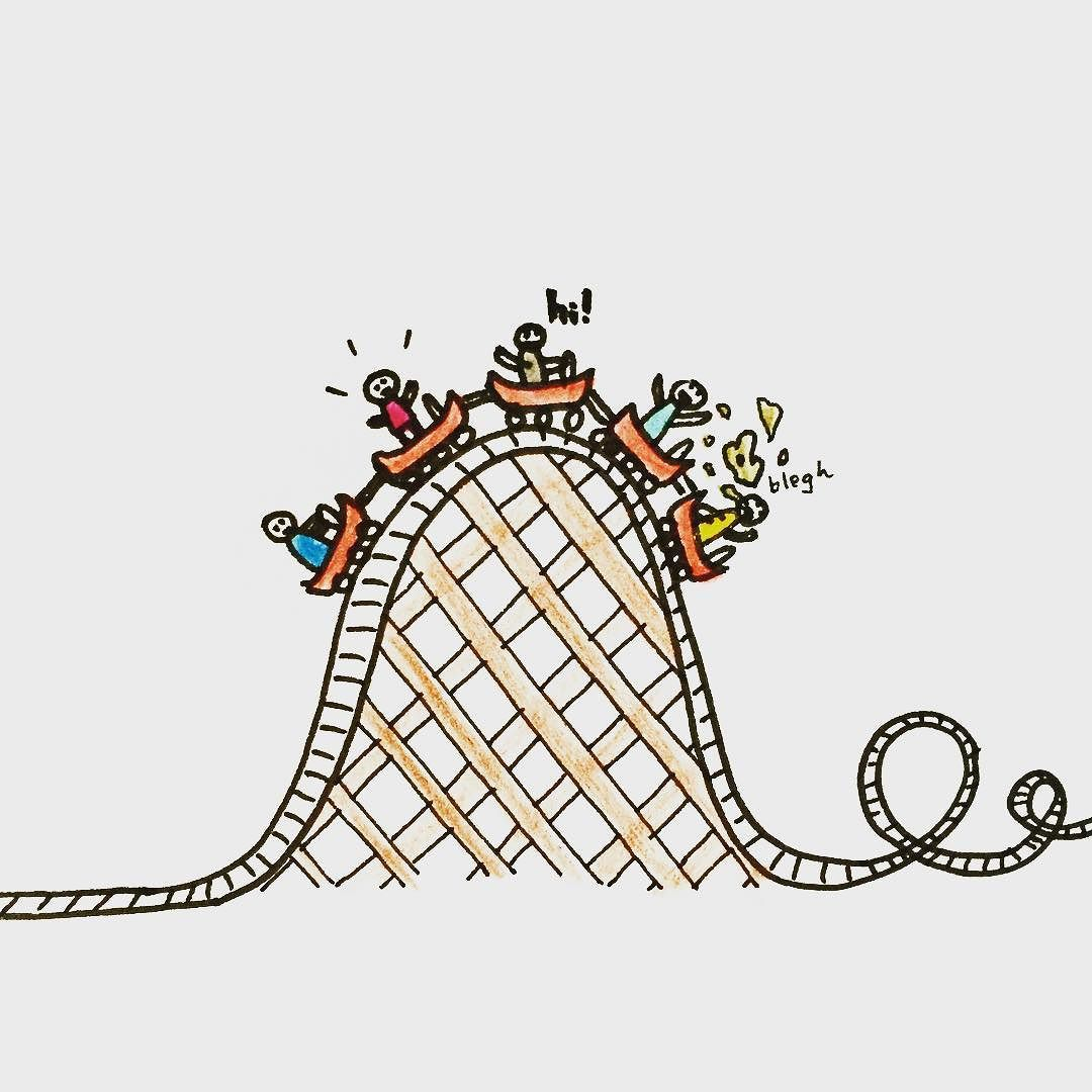 Roller coaster clipart doodle. Over the hump dailydoodle