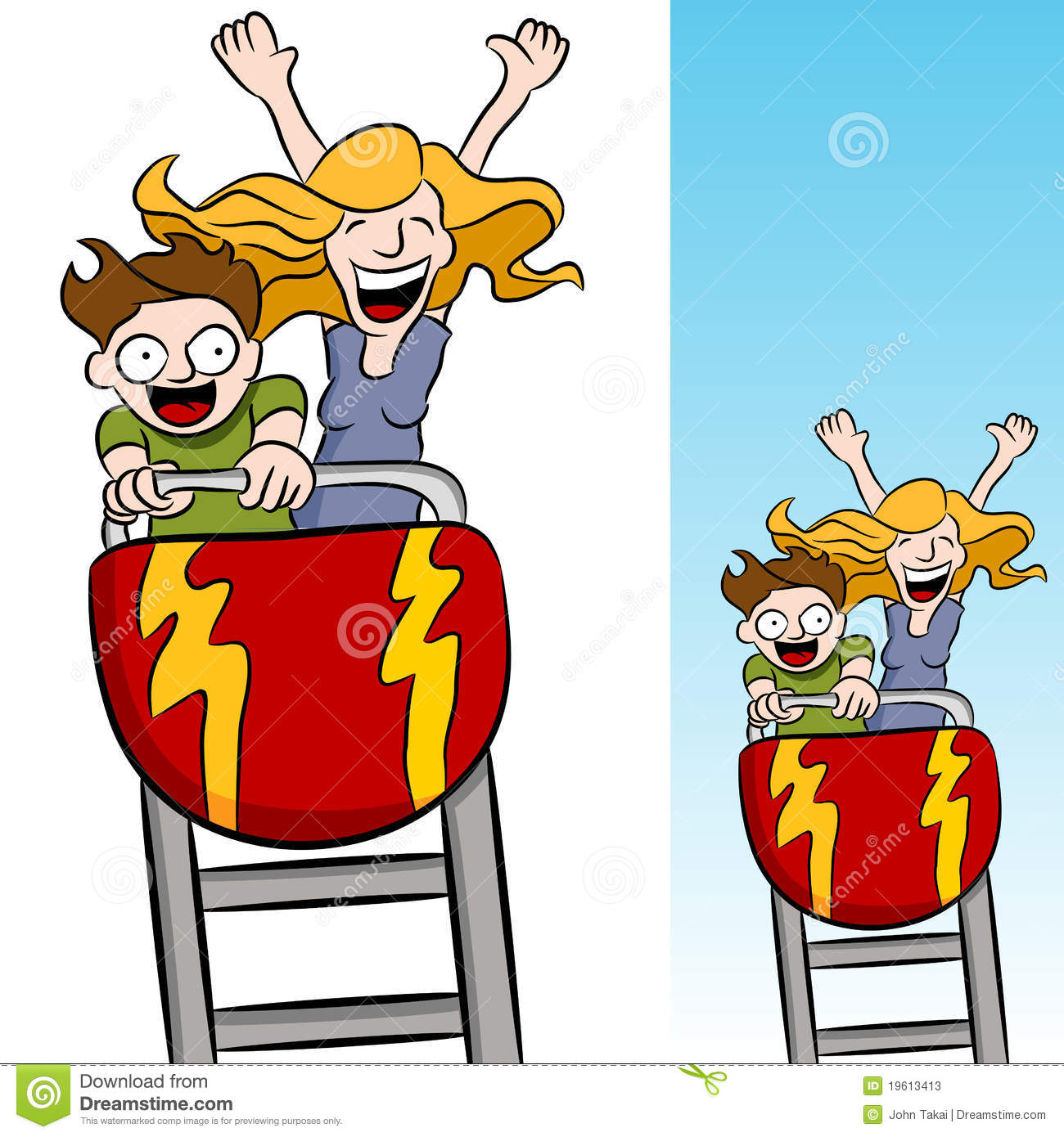 Roller coaster clipart fair day. Rollercoaster stock illustrations mother freeuse library