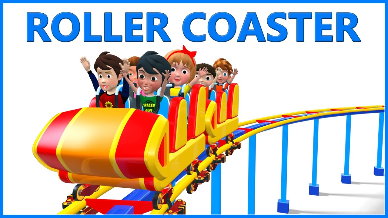 Roller coaster clipart kid. Ride educational d animated