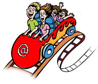Roller coaster clipart kid. User experience land rollercoaster