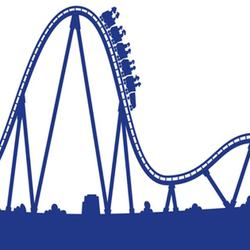 Roller coaster clipart roaller. Silhouette at getdrawings com