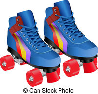 Skates clipart. Roller skate illustrations and royalty free download