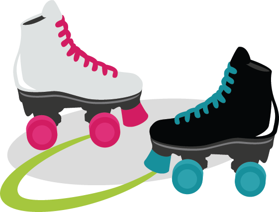 Roller skates clipart roller disco. Free picture download clip