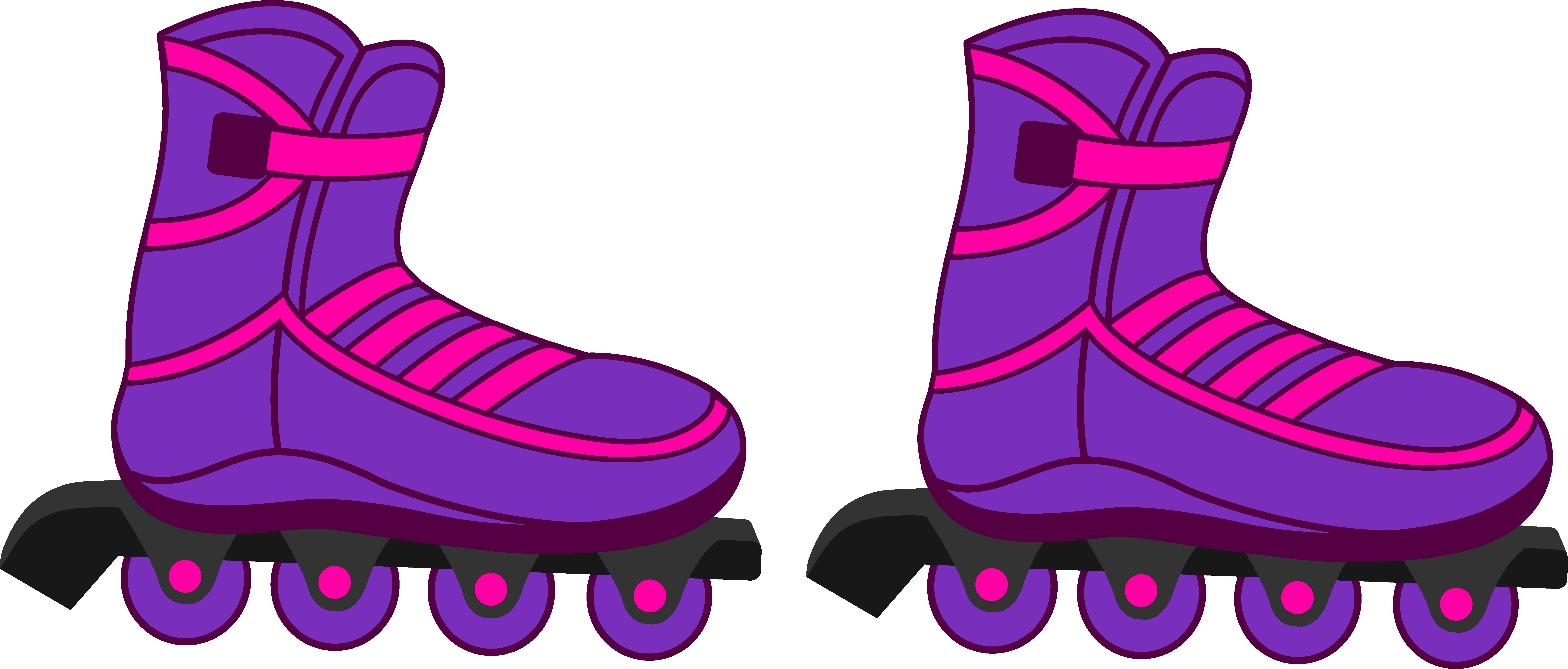 Roller skates clipart two kid. Image result for simple