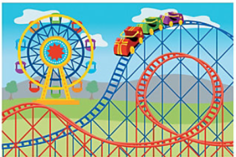 Carnival clipart roller coaster. Props circus party backdrops