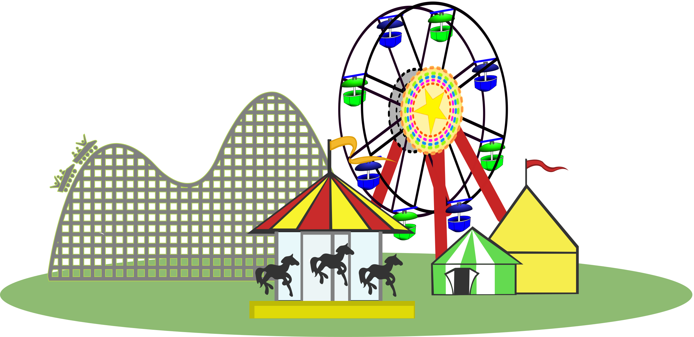 Rollercoaster clipart carnival. Remix of color wide