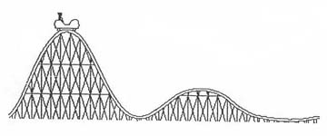 rollercoaster clipart hill