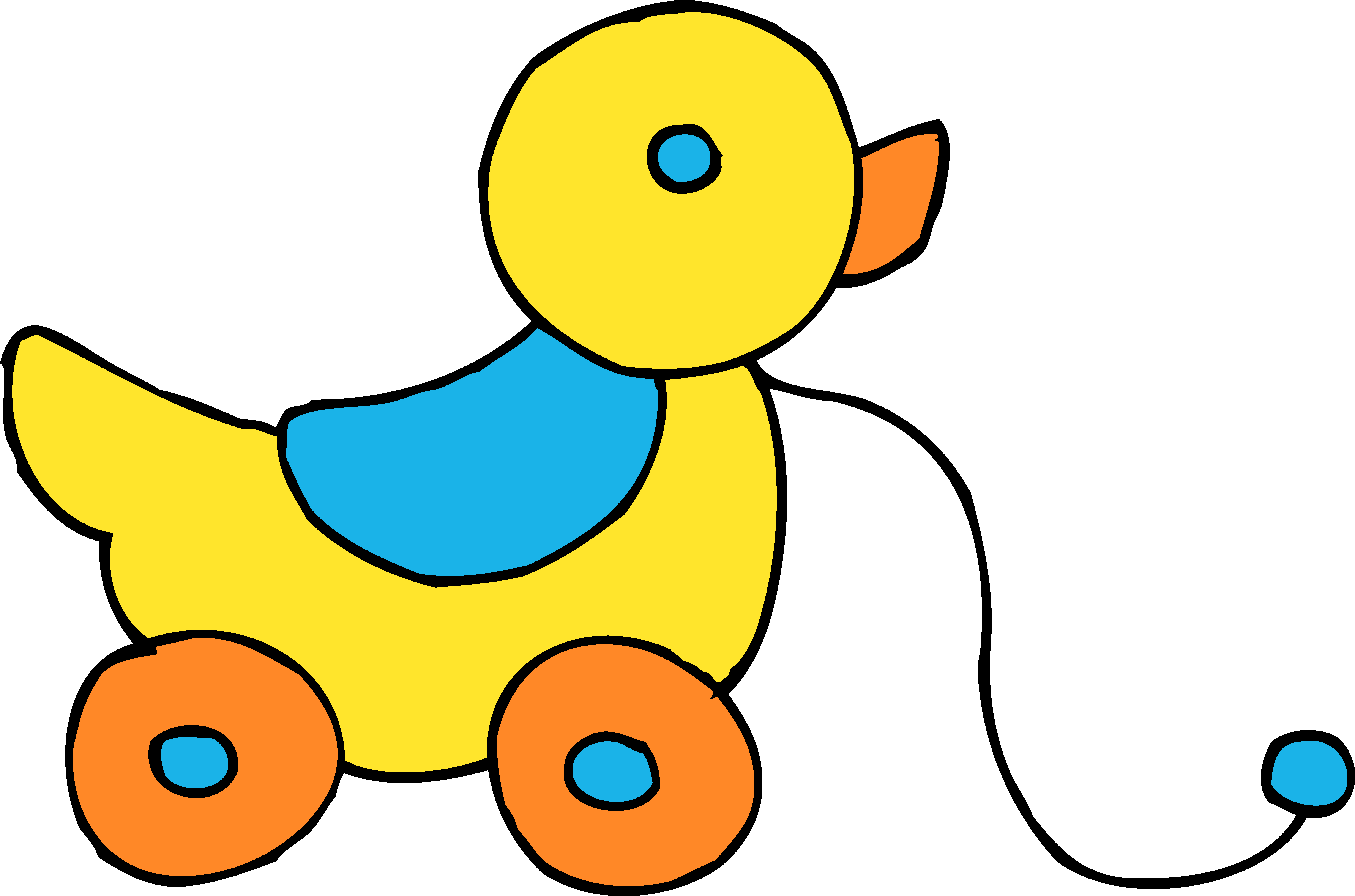 Rolling clipart. Yellow ducky toy free