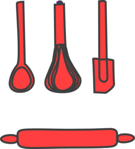 Rolling clipart bakery. Red clip art at