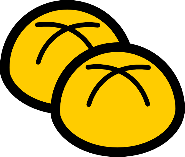 Rolling clipart bread. Roll bakery buns clip