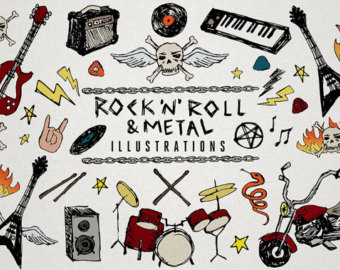 rolling clipart rock n roll