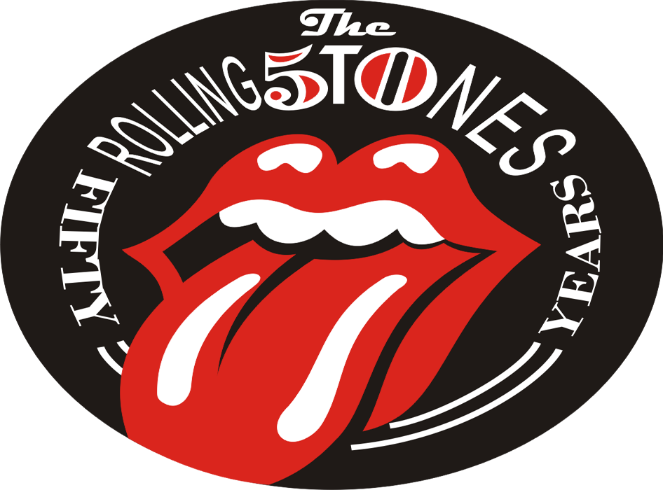 The logo classic rock. Rolling stones tongue png black and white stock