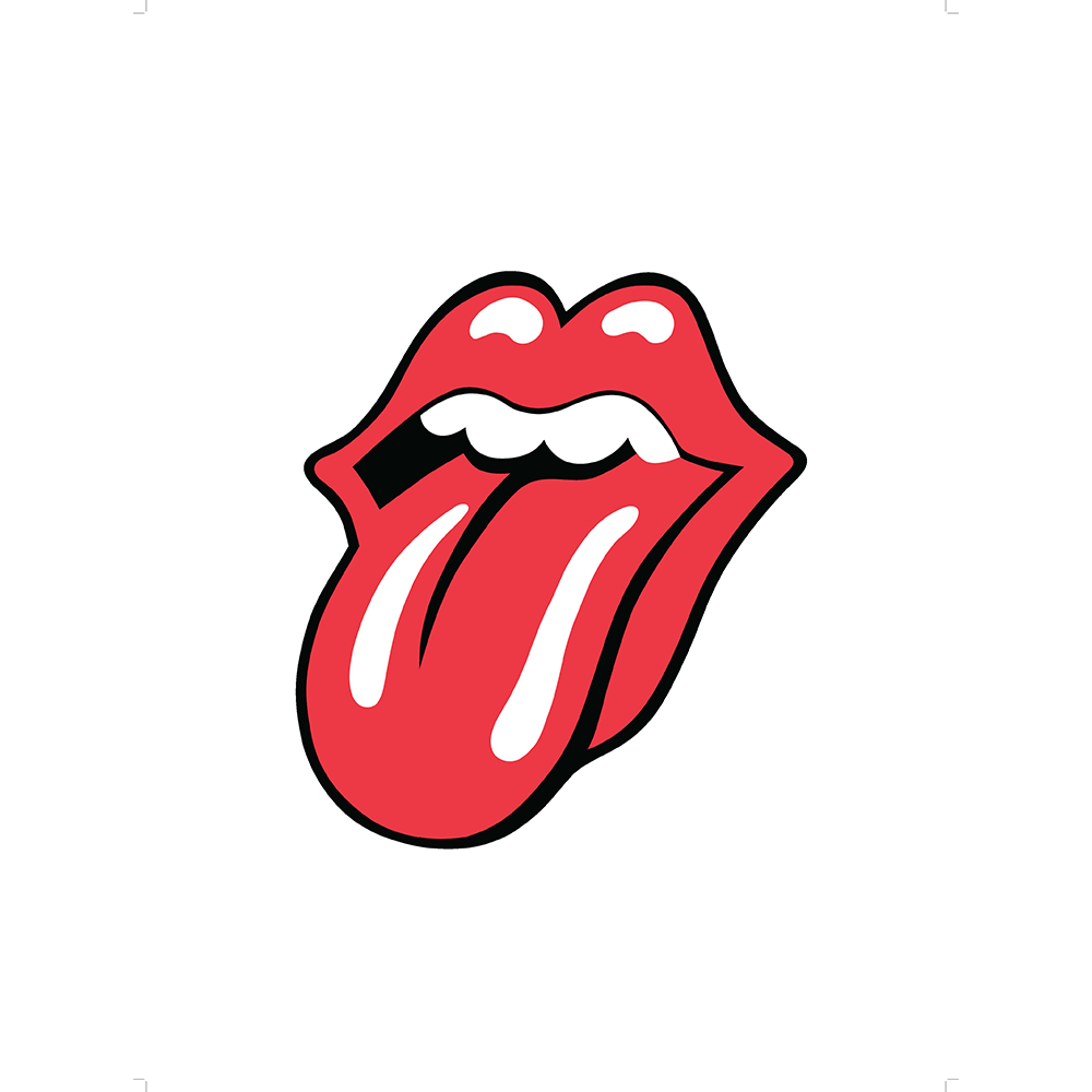 The logo lithograph . Rolling stones tongue png banner library library