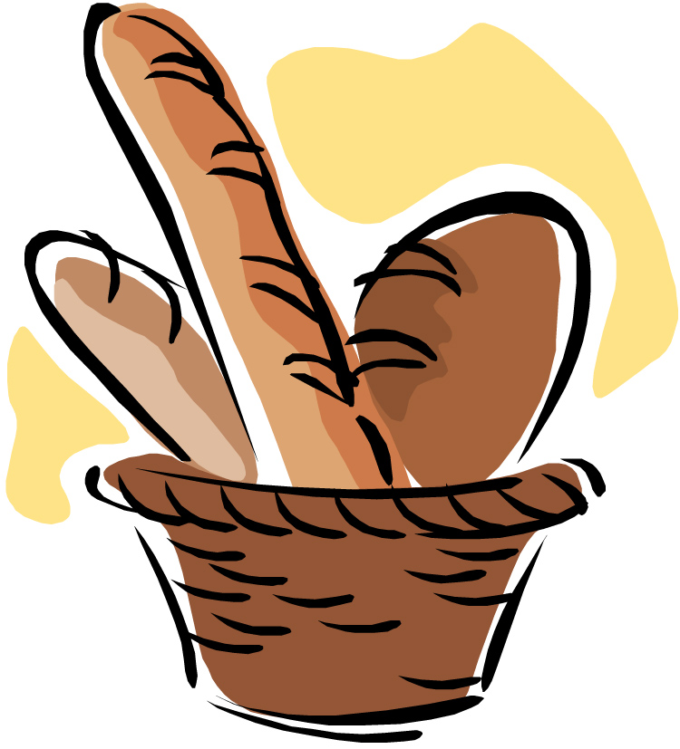 Roman clipart bread. Basket