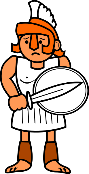Roman clipart simple. Rome warrior pencil and