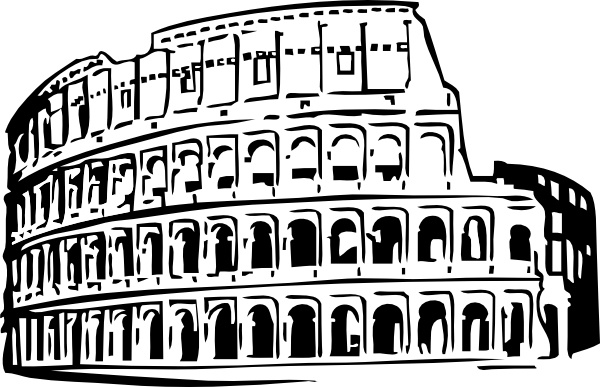 Roman clipart simple. Colosseum drawing at getdrawings