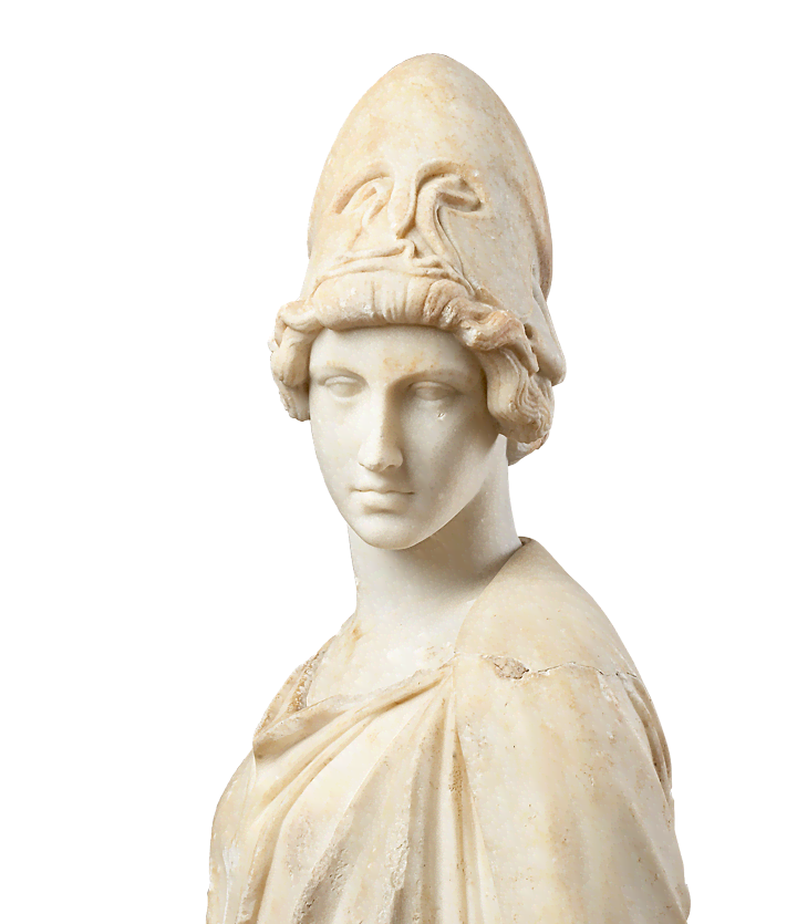 Roman statue head png. Athens at the liebieghaus