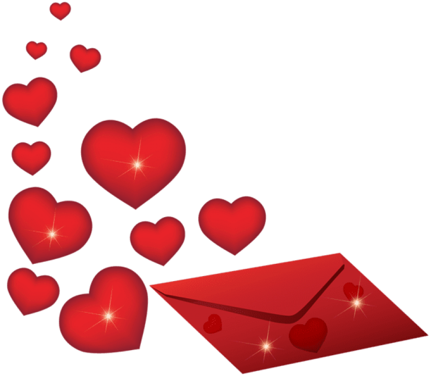 Romantic clip valentines day. Download envelope with hearts