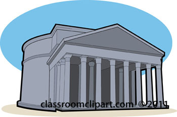 Rome clipart old building. Pencil and in color