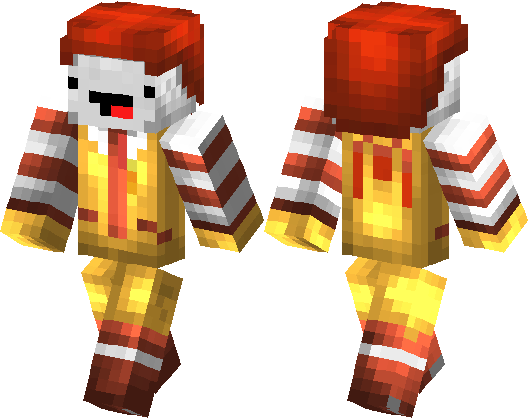 Ronald mcdonald face png. With derp minecraft skin