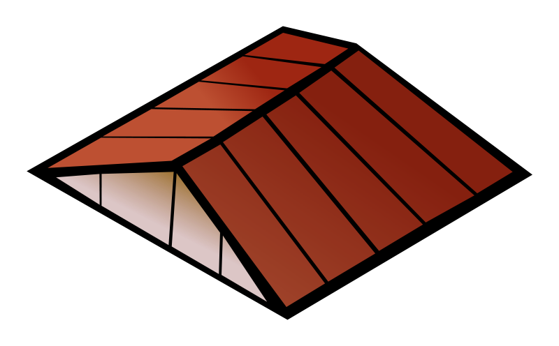 Roof clipart broken roof. Free cliparts download clip