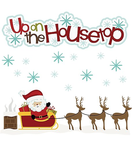 Roof clipart housetop. Santa up on the