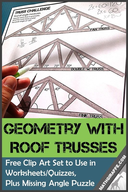 Roof clipart roof truss. Free for geometry teachers
