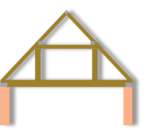 Roof clipart roof truss. Queen post trusses