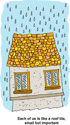 Roof clipart rooftop. Image raindrops on each